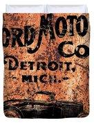Vintage Ford Motor Company Duvet Cover