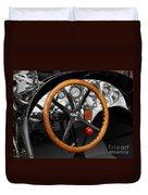 Vintage Ford Racer Dashboard Duvet Cover