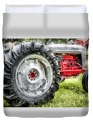 Vintage Ford Tractor Watercolor Duvet Cover