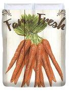 Vintage Fresh Vegetables 3 Duvet Cover