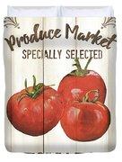 Vintage Fresh Vegetables 4 Duvet Cover