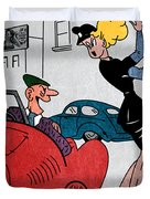 Vintage Funny Joke Retro 1950's Humor Pin Up Girl  Duvet Cover