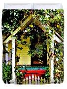 Vintage Garden Arbor Gate Duvet Cover