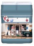 Vintage Gas Station Duvet Cover