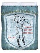 Vintage Golf Blue 1 Duvet Cover