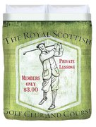 Vintage Golf Green 1 Duvet Cover