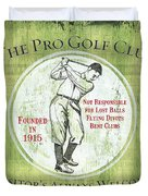 Vintage Golf Green 2 Duvet Cover