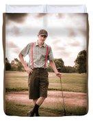 Vintage Golf Duvet Cover