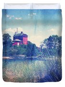 Vintage Great Lakes Lighthouse Duvet Cover