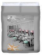 Vintage Hair Salon Duvet Cover