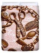 Vintage Hairdressing Charm Duvet Cover