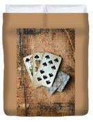 Vintage Hand Of Cards Duvet Cover