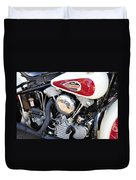 Vintage Harley V Twin Duvet Cover by David Lee Thompson