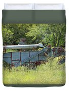 Vintage Harvester In A Field Duvet Cover