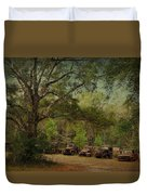 Vintage Harvey Trucks In Northwest Florida Duvet Cover