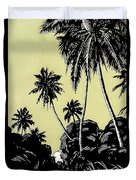 Vintage Hawaii Palms Duvet Cover