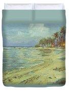 Vintage Hawaiian Art Duvet Cover