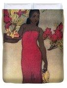 Vintage Hawaiian Woman Duvet Cover