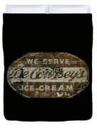 Vintage Ice Cream Mural  Duvet Cover