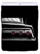 Vintage Impala Black And White Duvet Cover