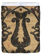 Vintage Iron Scroll Gate 2 Duvet Cover by Debbie DeWitt