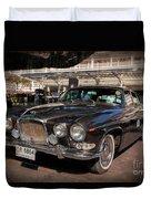Vintage Jaguar Duvet Cover