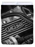 Vintage Jaguar Engine Duvet Cover