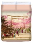 Vintage Japanese Art 25 Duvet Cover