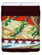 Vintage Japanese Art 6 Duvet Cover