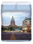 Vintage July 1968 View Looking Up Congress Avenue To The Texas State Capitol Duvet Cover