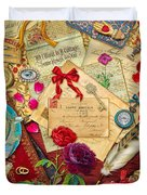 Vintage Love Letters Duvet Cover