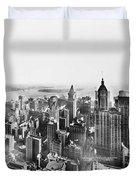 Vintage Lower Manhattan Skyscraper Photo - 1913 Duvet Cover