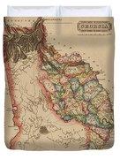 Antique Map Of Georgia Duvet Cover
