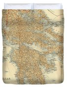 Vintage Map Of Greece - 1894 Duvet Cover