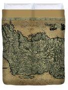 Vintage Map Of Ireland 1771 Duvet Cover