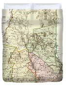 Vintage Map Of New Hampshire - 1796 Duvet Cover
