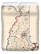 Vintage Map Of New Hampshire - 1819 Duvet Cover