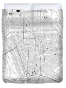Vintage Map Of New York City - 1911 Duvet Cover