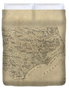 Vintage Map Of North Carolina - 1893 Duvet Cover