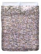 Vintage Map Of Ohio - 1884 Duvet Cover