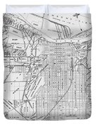 Vintage Map Of Savannah Georgia - 1910 Duvet Cover