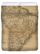Vintage Map Of South America - 1825 Duvet Cover