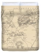 Vintage Map Of Spofford And Chesterfield Nh - 1892 Duvet Cover