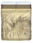 Vintage Map Of The Colorado River - 1858 Duvet Cover