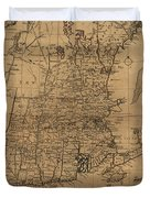 Vintage Map Of The New England Coast - 1771 Duvet Cover