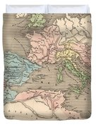 Vintage Map Of The Roman Empire - 1838 Duvet Cover