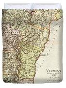 Vintage Map Of Vermont - 1797 Duvet Cover