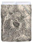 Vintage Map Of Vienna Austria - 1906 Duvet Cover