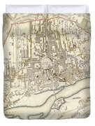 Vintage Map Of Warsaw Poland - 1831 Duvet Cover