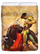 Vintage Mexico Bullfight Travel Poster Duvet Cover